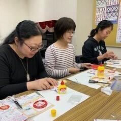 「押し絵作り教室」を開催しました。